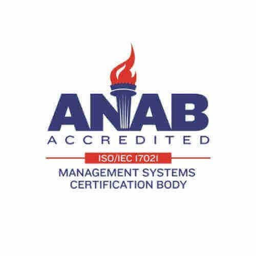 ANAB Accredited ISO / IEC / 17021 - Management Systems Certification Body
